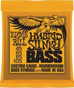 JEU DE CORDES BASSE ERNIE BALL 2833 HYBRID SLINKY BASS 45-105