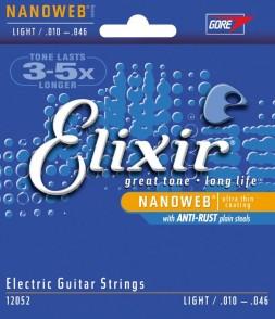 JEU DE CORDES ELECTRIQUE ELIXIR 12052 LIGHT 10/46