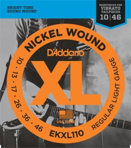 JEU DE CORDES D'ADDARIO EKXL110 10/46 LIGHT FILE ROND
