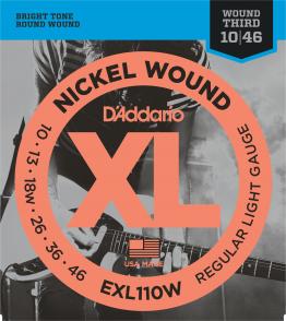 JEU DE CORDES D'ADDARIO EXL110W FILE ROND LIGHT 10/46