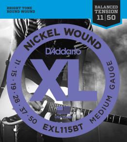 JEU DE CORDES D'ADDARIO EXL115BT FILE ROND MEDIUL 11/50