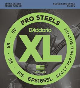 JEU DE CORDES BASSE D'ADDARIO EPS165SL FILE ROND 45-105 SUPER