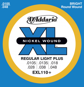 JEU DE CORDES D'ADDARIO REGULARLIGHT PLUS EX110PLUS
