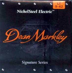 PACK DE 12 JEUX DE CORDES DEAN MARKLEY NICKELSTEEL ELECTRIC LT 9-42