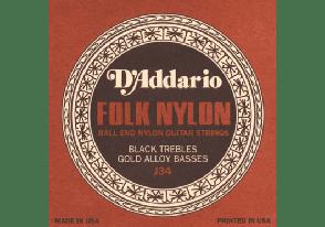 JEU DE CORDES CLASSIQUE D'ADDARIO J33 NYLON A BOULE