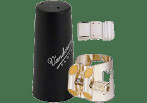 LIGATURE CLARINETTE BASSE VANDOREN OPTIMUM AVEC COUVRE BEC PLASTIQUE