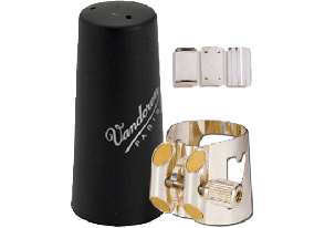 LIGATURE CLARINETTE SIB SYSTEME ALLEMAND VANDOREN OPTIMUM AVEC COUVRE BEC PLASTIQUE