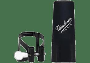 LIGATURE CLARINETTE BASSE NOIRE VANDOREN LC54BP CB PLASTIQUE