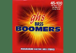 JEU DE CORDES BASSE GHS STRINGS 3045ML BOOMERS FILE ROND 45/100