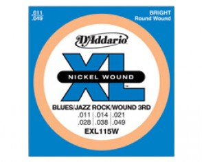 JEU DE CORDES D'ADDARIO REGULAR BLUES-JAZZ-ROCK SOL FILE EXL115W