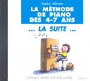 ALLERME S. METHODE DE PIANO 4 - 7 ANS LA SUITE CD
