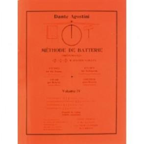 AGOSTINI DANTE METHODE DE BATTERIE VOL 4