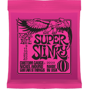 JEU DE CORDES ERNIE BALL 2223 SUPER SLINKY 09/42