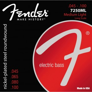 JEU DE CORDES BASSE ELECTRIQUE FENDER 7250ML MEDIUM LIGHT LONG SCALE 045/100
