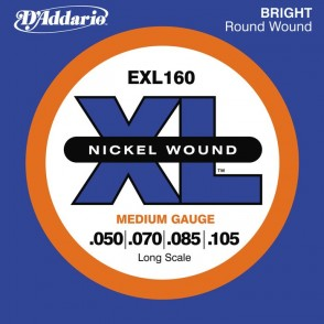 JEU DE CORDES BASSE D'ADDARIO EXL160 XL FILE ROND NICKEL 50-105