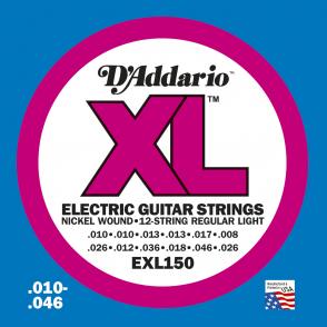 JEU DE CORDES D'ADDARIO REGULAR SUPER LIGHT/7C EXL150
