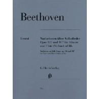 BEETHOVEN L.V. VARIATIONS SUR DES MELODIES VIOLON OU FLUTE