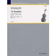 VIVALDI A. 12 SONATES OP 2 VOL 2 VIOLON
