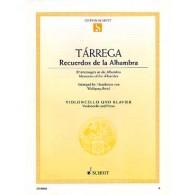 TARREGA F. RECUERDOS DE LA ALHAMBRA VIOLONCELLE