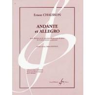 CHAUSSON E. ANDANTE ET ALLEGRO CLARINETTE