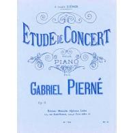 PIERNE G. ETUDE DE CONCERT OP 13 PIANO