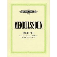 MENDELSSOHN F. DUETTE CHANT PIANO