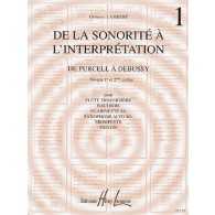 LAMBERT G. DE LA SONORITE A L'INTERPRETATION VOL 1 FLUTE
