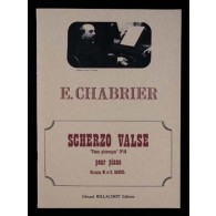 CHABRIER E. SCHERZO VALSE PIANO