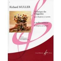 MULLER R. TECHNIQUES DES 4 BAGUETTES VIBRAPHONE ET MARIMBA