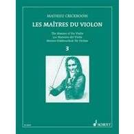 CRICKBOOM M. LES MAITRES DU VIOLON VOL 3