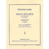 LAUBA C. NEUF ETUDES CAHIER 1 SAXOPHONE ALTO