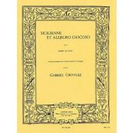 GROVLEZ G. SICILIENNE ET ALLEGRO GIOCOSO BASSON