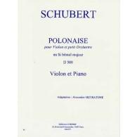 SCHUBERT F. POLONAISE D 580 VIOLON