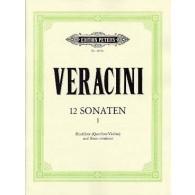 VERACINI F.M. 12 SONATES VOL 1 FLUTE A BEC OU FLUTE TRAVERSIERE OU VIOLON