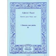 FAURE G. ROMANCE SANS PAROLES OP 17 N°2 PIANO