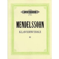 MENDELSSOHN F. OEUVRES COMPLETES VOL 3 PIANO