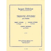DELECLUSE J. ETUDES (30) 2ME CAHIER TIMBALES