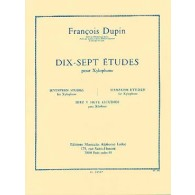 DUPIN F. 17 ETUDES XYLOPHONE