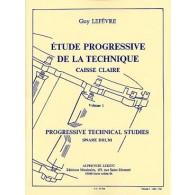 LEFEVRE G. ETUDE PROGRESSIVE DE LA TECHNIQUE VOL 1 CAISSE CLAIRE