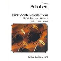 SCHUBERT F. SONATINES OP POST 137 VIOLON