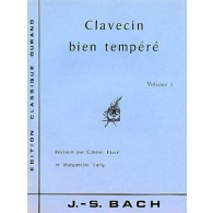 BACH J.S. CLAVECIN BIEN TEMPERE VOL 1 PIANO