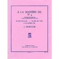 DELECLUSE J. A LA MANIERE DE N°4 PERCUSSION