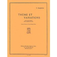 DESPORTES Y. THEME ET VARIATIONS PERCUSSION