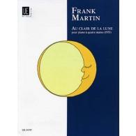 MARTIN F. AU CLAIR DE LA LUNE PIANO 4 MAINS