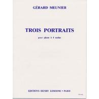 MEUNIER G. TROIS PORTAITS PIANO 4 MAINS