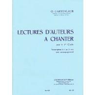 GARTENLAUB O. LECTURES D'AUTEURS A CHANTER OU A JOUER 1ER CYCLE