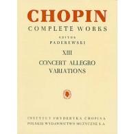 CHOPIN F. CONCERT ALLEGRO VARIATIONS PIANO
