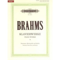 BRAHMS J. OEUVRES COMPLETES VOL 5 PIANO