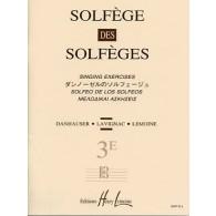 SOLFEGE DES SOLFEGES VOL 3E