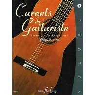 RIVOAL Y. CARNETS DU GUITARISTE VOL 3 GUITARE